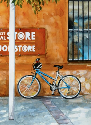 Blue Bike at the General Store